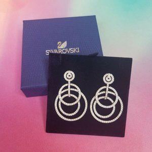 NIB Swarovski Purity Pierced Crystal Earrings
